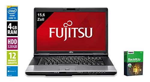 Fujitsu LifeBook E752 | Notebook | Laptop | 15,6 Zoll (1366x768) | Intel Core i5-3320M @ 2,6 GHz | 4GB DDR3 RAM | 320GB HDD | DVD-Brenner | Windows 10 Home (Zertifiziert und Generalüberholt) -