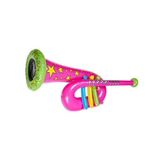 Tuba Gonflable Trompette Clown Rose Cirque Trombone Musique Instrument gonflable Instrument A Vent Costume Accessoire