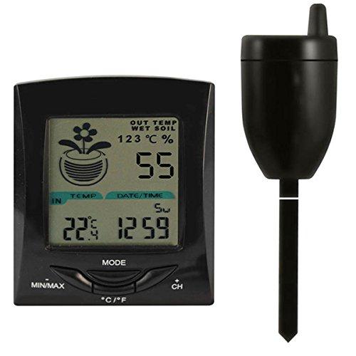 Bluelover 100m trasmissione Wireless terreno umidità Tester multifunzione temperatura esterna coperta Meter strumento-mainframe + sensore