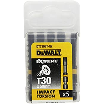 Set de 5 Pi/èces 50mm Argent Dewalt DT7390T-QZ Embout torsionPz1
