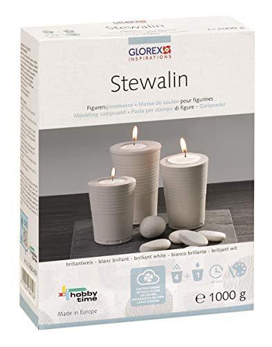 Glorex GmbH 6 2608 450 Stewalin Gießmasse, 1000 g, weiß -