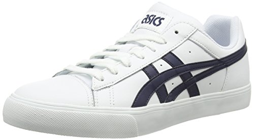 Asics Ns-court, Unisex-Erwachsene Sneakers Weiß (white/navy 0150)