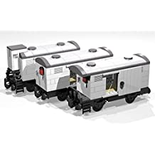 Collection of five 4- and 8-Wheel Reefer Wagons: Lego MOC building instructions (Lego Train MOC plans Book 6) (English Edition)