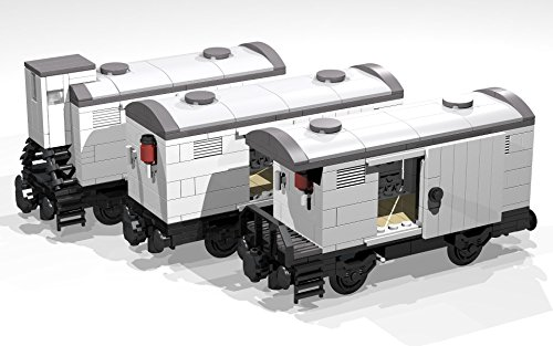 Collection of five 4- and 8-Wheel Reefer Wagons: Lego MOC building instructions (Lego Train MOC plans Book 6) (English Edition) - 6 Moc