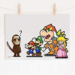 Posters Originales Mario Friends and Jason