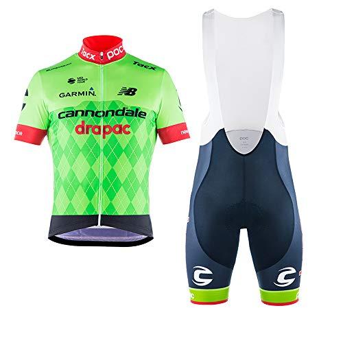 Wulibike Abbigliamento Ciclismo Set Maglia Ciclismo Maniche Corte e Pantaloncini Ciclismo Uomo Completo Ciclismo Squadra Professionale per MTB