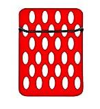 Snoogg Gepolsterte Laptoptasche für 20,3 cm (8 Zoll), Rot mit Punkten