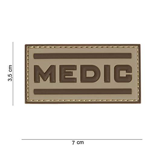Tactical Attack Medic Coyote braun Softair Sniper PVC Patch Logo Klett inkl gegenseite zum aufnähen Paintball Airsoft Abzeichen Fun Outdoor Freizeit