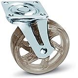SO-TECH® Rueda giratoria para Mueble Color Transparente Marrón Ø 75 mm