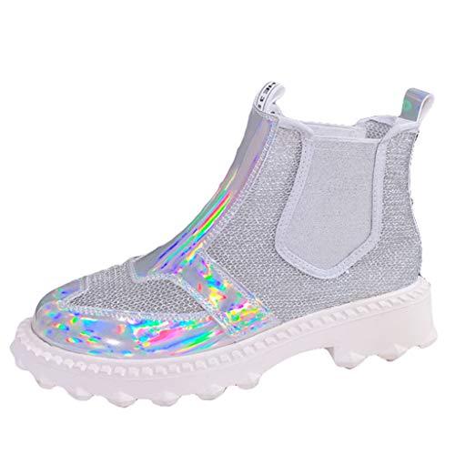 wthfwm Chelsea Stiefel Frauen net atmungsaktiv Chelsea Schuhe Sommer Damen Stiefeletten Schuhe,A-40 Damen Wingtip