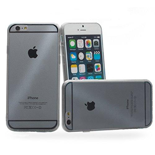 Apple iPhone 6/6S + PLUS (5.5 Zoll)   iCues Bumpy Bumper Case Klare Rückseite Schwarz   Staubschutz durch Staubstecker Stöpsel Sttaubdicht Dust Proof Extra Leicht sehr Dünn Transparent Klarsichthülle  Schwarz