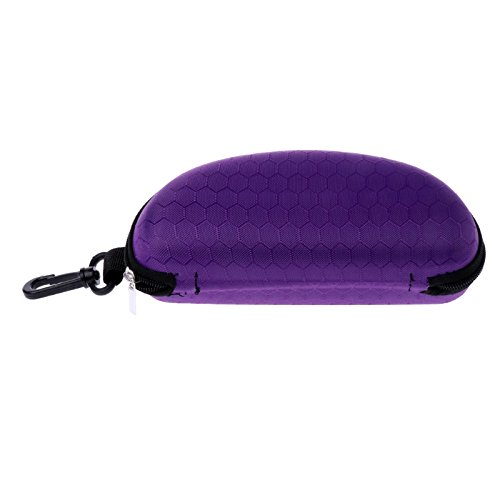 HittecH Tragbar Reißverschluss Sonnenbrille Hartschale Eye Gläser Case Eyewear Displayschutzfolie Box Tasche Cover, Violett, 1pcs