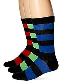 K. Bell Socks Men's Rugby Neon Crew 3 Pack