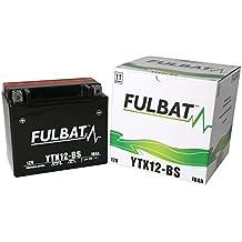 Batería FULBAT AGM YTX12-BS 12V 10Ah 180A Largo: 150 x Ancho: 87 x Alto 130 (mm) …