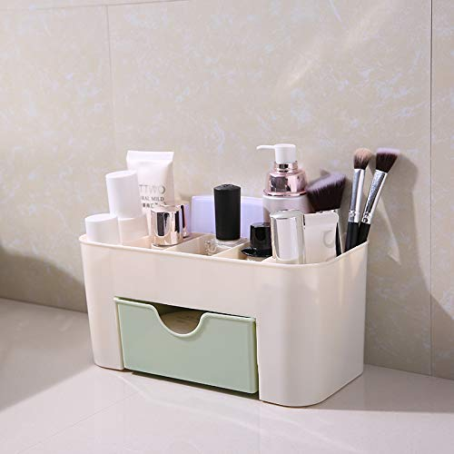 WSNDD Cosmetic Storage Box Small Mini Cute Dressing Table Shelf Makeup Brush Lipstick Desktop Organizer Green - Keller-storage-shelf