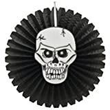 Partysanthe Halloween Skull Face Printed Paper Fan/Accordion Hanging Paper Fan Decoration New