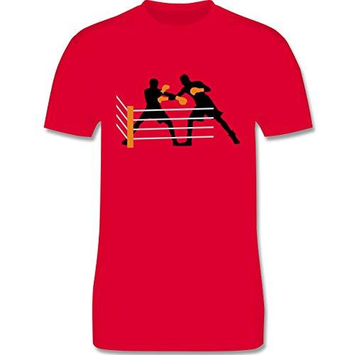 Kampfsport - Boxer im Ring - Herren Premium T-Shirt Rot
