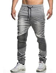 Tazzio Biker Style Jogg Homme Jeans 16505Gris