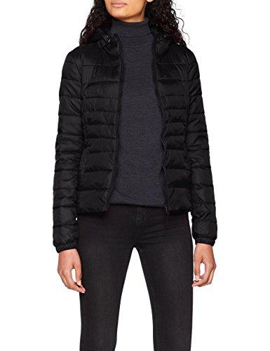 ONLY NOS Damen Jacke Onltahoe Hood Jacket Otw Noos, Schwarz (Black), 42(Herstellergröße: XL) (Gesteppte Jacke Frauen Schwarz)