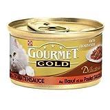 Gourmet Gold Delicatess Rind und Huhn | 12x 85g Katzenfutter nass
