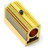 Q-baihe Radiateur en aluminium Dissipateur de chaleur 20x 27x 50mm pour 12mm module Laser Doré