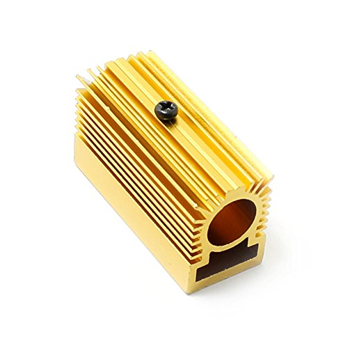 Q-Baihe Aluminium-Kühler / Kühlkörper, 20x 27x 50mm für 12-mm-Laser-Module, golden Mm-modul