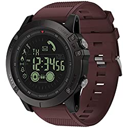 Montres Smart bracelet, VIBE3 imperm¨¦able ¨¤ l'eau podom¨¨tre cam¨¦ra Bluetooth montre intelligente pour Android iOS-rouge