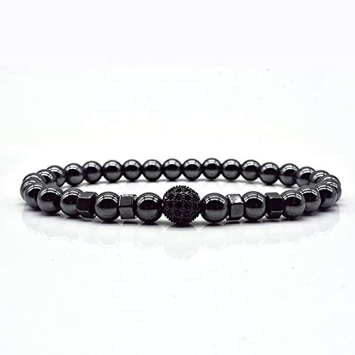IJEWALRY Damenarmband Armbänder Armband,Mode Persönliche Elegante Lange Röhre Ball Mode Charme Armband Männer 6 Mm Perlen Armband Für Männer Schmuck Geschenk