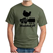 OM3 - WOODSTOCK '69 - T-Shirt PEACE LOVE MUSIC HIPPIE FLOWER POWER USA, S - 5XL