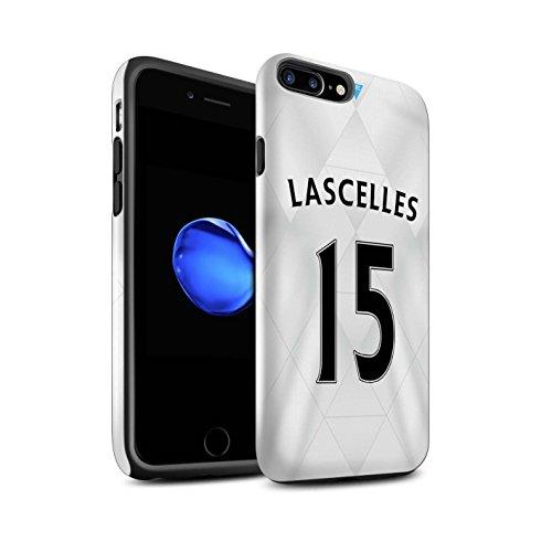 Offiziell Newcastle United FC Hülle / Glanz Harten Stoßfest Case für Apple iPhone 7 Plus / Rivière Muster / NUFC Trikot Away 15/16 Kollektion Lascelles