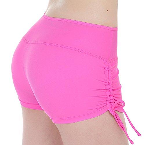 Bikini costume intero da donna pantaloncini con laccetti regolabili Pink