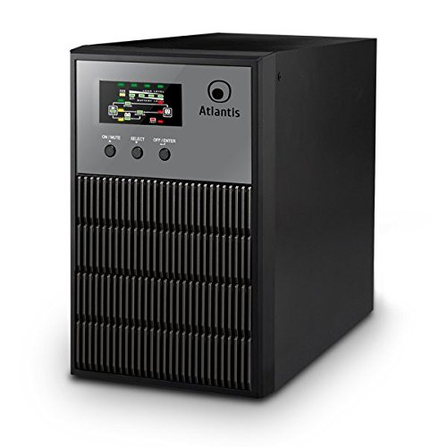 Atlantis LinePower 1001, UPS On Line a doppia conversione 1000VA/700W, Tensione in uscita costante, Onda Sinusoidale, 3 prese IEC, 2 Batterie 12V 7Ah, Software ViewPower scaricabile gratuitamente