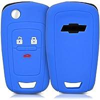 kwmobile Funda de Silicona para Llave de 2-3 Botones para Coche Chevrolet - Carcasa