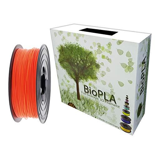 Bobina de filamento PLA ecológico de 1,75 mm y 1 kg, 100 g, para todas las impresoras 3D, 1,75mm, naranja neón, 1