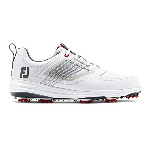 Footjoy Fury, Chaussures de Golf Homme, Blanc (Blanco/Rojo...