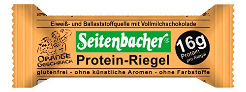 Seitenbacher Protein Riegel Orange, 12er Pack (12 x 60 g)
