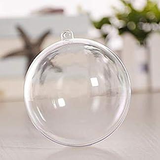 czos88 Bola 10 Piezas Adorno para el hogar Decoración de Regalo Chuchería Colgante Árbol de Navidad Fiesta de plástico Transparente Rellenable(Los 7cm)