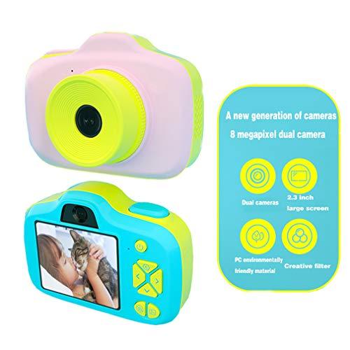 HWUKONG Kinder-Videokamera für Mädchen, Jungen, Kinderspielzeug, stoßfeste Kinder-Camcorder, 2-Zoll-Mini-Digitalkamera, für Jungen mit 5 bis 9 Jahren, Geburtstagsgeschenke mit 16 GB SD-Karte,pink - Japanische Kinder Für Flash-karten