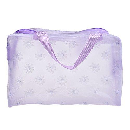 Longra Trucco cosmetico portatile toilette viaggio Lavare Spazzolino Pouch Bag Organizer (Viola)