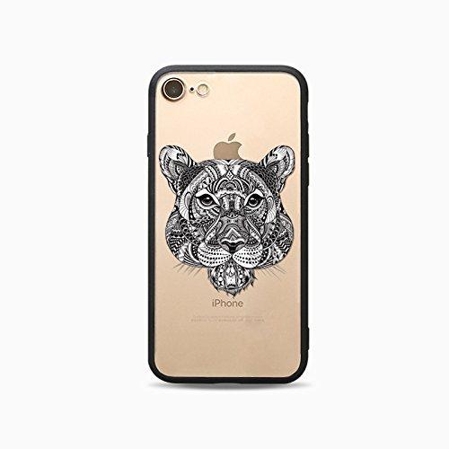 Coque iPhone X Nouveau Housse étui-Case Transparent Liquid Crystal Les animaux en TPU Silicone Clair,Protection Ultra Mince Premium,Coque Prime pour iPhone X Nouveau-Ours-style 6 9