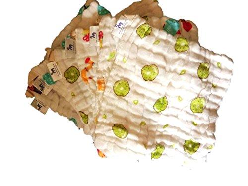 Superbottoms 100% Organic Cotton Muslin Reusable Wipes Napkin (Set of 8)