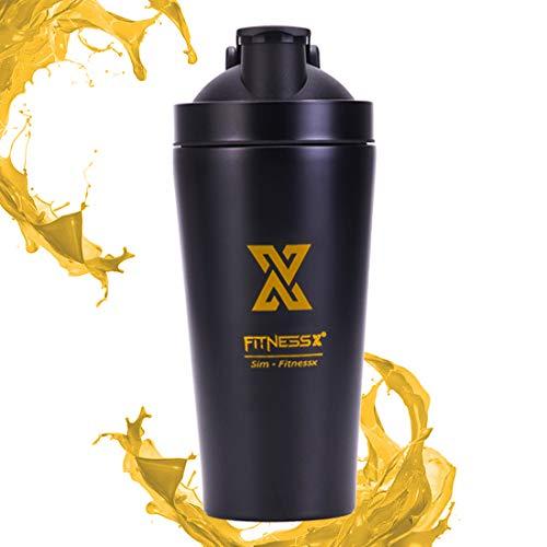 Plc020 shaker proteine acciaio | shaker palestra | borraccia palestra | shaker in acciaio inox (isolamento) 550ml