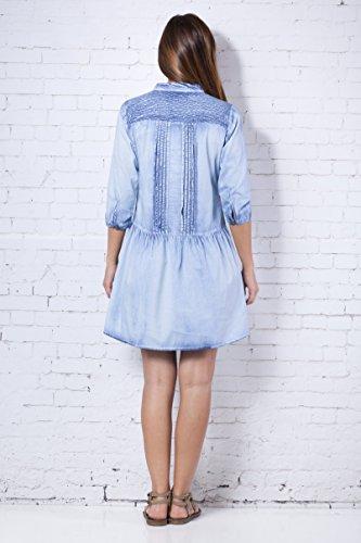 PEACE&LOVE BY CALAO Vestido Liso (Pn4541v), Robe Femme Bleu