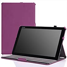 MoKo ASUS Transformer Book T300 Chi Funda - Slim-Fit Multi-Angle Folio Funda para Transformer Book T300 Chi 12.5 Pulgadas (2015 Verción) Windows 8.1 Tableta, VIOLETA