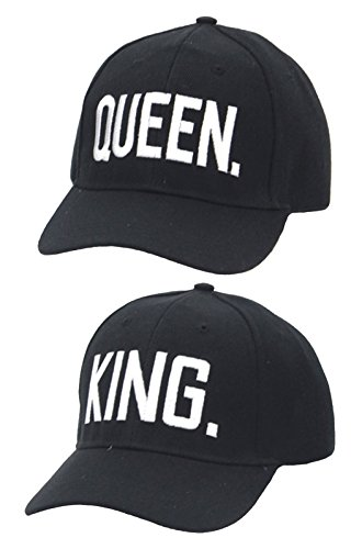 *Partner Cap im SET King & Queen Baseball Cap Base Cap mit hochwertiger Stickerei*