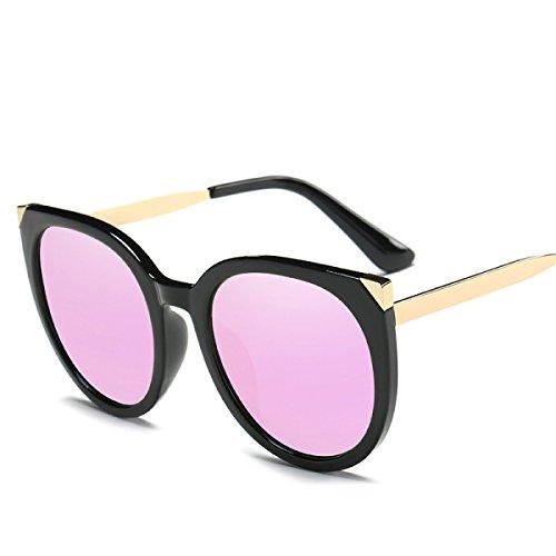 WKAIJC Gafas De Sol Retro Moda Personalidad Confort Ocio Creativo Gafas De Sol Señora Polarizado Caja Grande,C