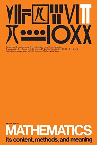 Mathematics Volume 3: Its Contents, Methods, and Meaning 2nd Edition: Its Content, Methods and Meaning by Aleksandrov (1-Jan-1969) Paperback