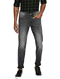 RUF & TUF Solid Grey Coloured Cotton Blend Jeans