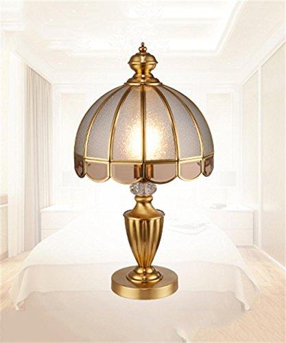 Tutto il rame Continentale dell'America Salone di lusso da letto comodino lampada da tavolo