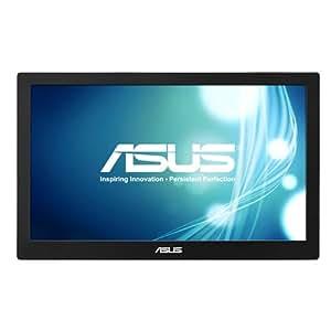 Asus MB168B+ 39,6 cm (15,6 Zoll) tragbarer USB Monitor (Full HD, 11ms Reaktionszeit) schwarz/silber (Stromversorgung über USB)